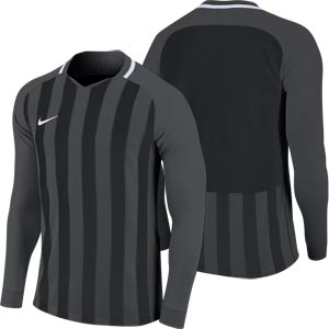 Nike Striped Division III Long Sleeve Senior Football Shirt Anthracite/Black