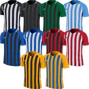 Nike Striped Division III Short Sleeve Senior Football Jersey