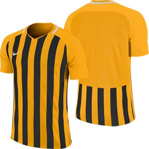Nike Striped Division III Short Sleeve Senior Football Shirt University Gold/Black