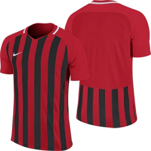 Nike Striped Division III Short Sleeve Senior Football Shirt University Red/Black