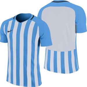 Nike Striped Division III Short Sleeve Senior Football Shirt University Blue/White