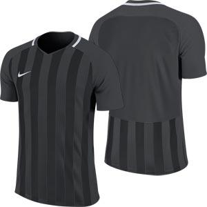 Nike Striped Division III Short Sleeve Junior Football Shirt Anthracite/Black