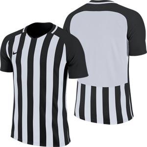 Nike Striped Division III Short Sleeve Junior Football Shirt Black/White