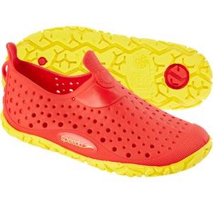 Speedo Junior Jelly Shoes Red/Yellow