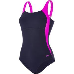 Speedo Lunalustre Swimsuit Navy/Diva