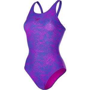 Speedo Boom Allover Muscleback Swimsuit Ultramarine/Diva