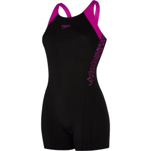 Speedo Boom Splice Legsuit Black/Diva