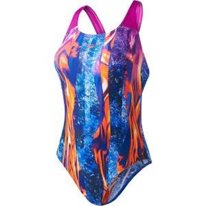 Speedo Lavaflow Digital Powerback Swimsuit Diva/Navy/Orange