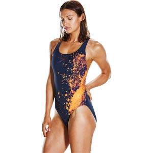 Speedo Energyflo Powerback Swimsuit Navy/Diva/Fluo Orange