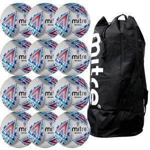 Mitre Delta Legend Hyperseam Replica EFL Match Football 12 Pack White