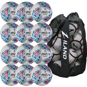 Mitre Delta Legend Training Football 12 Pack White