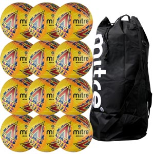Mitre Delta Legend Hyperseam Replica EFL Match Football 12 Pack Hi Vis