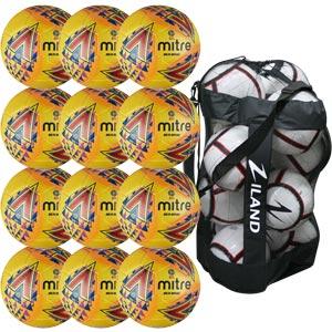 Mitre Delta Legend Training Football 12 Pack Hi Vis