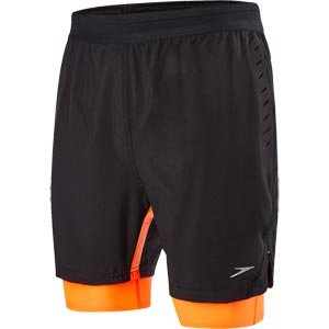 Speedo Lane Hybrid 16 Inch Watershort Black/Fluo Orange
