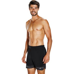Speedo Lane Trim 16 Inch Short Black/White