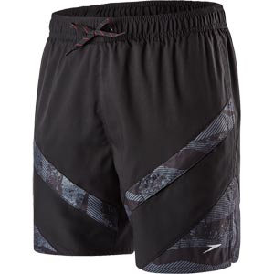 Speedo Sport Panel 16 Inch Watershort Black/Oxid Grey