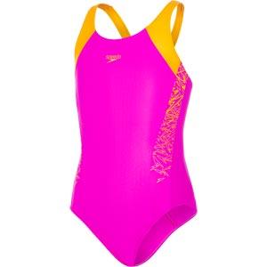 Speedo Girls Boom Splice Muscleback Swimsuit Diva/Jaffa
