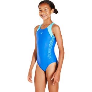 Speedo Girls Boom Splice Muscleback Amparo Blue/Turquoise