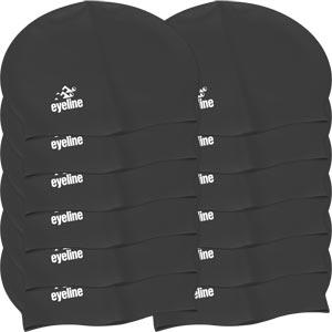 Eyeline Senior Latex Swimming Cap 12 Pack Black