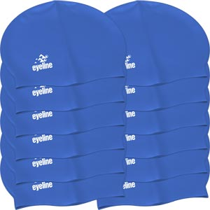 Eyeline Senior Latex Swimming Cap 12 Pack Blue
