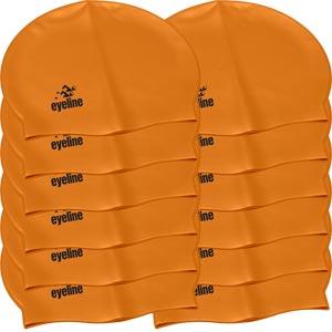 Eyeline Senior Latex Swimming Cap 12 Pack Orange