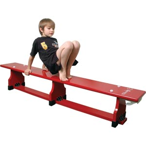 Sure Shot Coloured Balance Bench Red