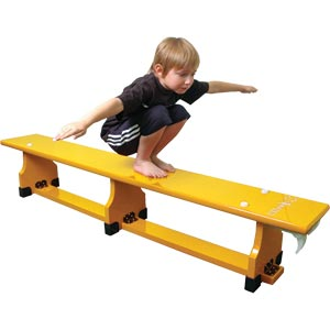 Sure Shot Coloured Balance Bench Yellow