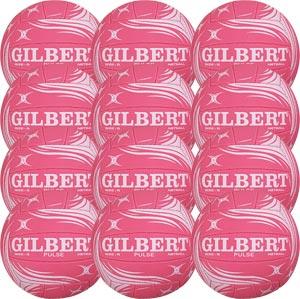 Gilbert Pulse Match Netball 12 Pack Pink