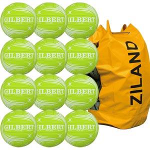 Gilbert Pulse Match Netball 12 Pack Green