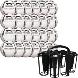 Slazenger Training Rounders Ball Pack of 24 with Carrier