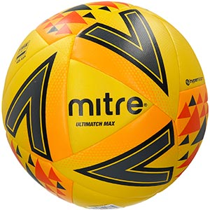 Mitre Ultimatch Max Match Football Yellow