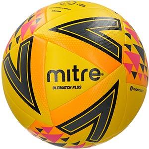 Mitre Ultimatch Plus Match Football Yellow