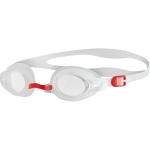 Speedo Mariner Supreme Swimming Goggles Clear/White/Red