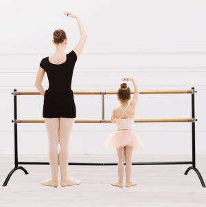 Apollo Freestanding Adjustable Professional Double Ballet Barre