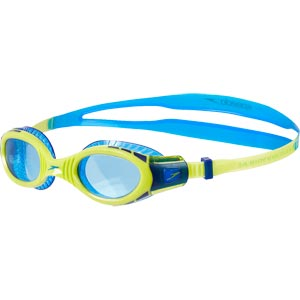 Speedo Junior Futura Biofuse Flexiseal Swimming Goggle New Surf/Lime/Bondi Blue