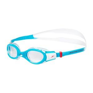 Speedo Junior Futura Biofuse Flexiseal Swimming Goggle White/Turquoise/Clear