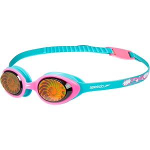 Speedo Junior Illusion 3D Printed Swimming Goggles Blue/Pink/Shell