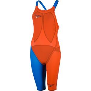 Speedo LZR Elite 2 Closedback Kneeskin Hot Orange/Bondi Blue