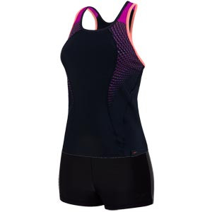 Speedo Pro 2 Piece Tankini Black/Diva/Fluo Orange