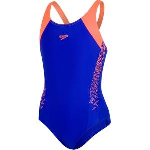 Speedo Girls Boom Splice Muscleback Swimsuit Ultrasonic/Orange