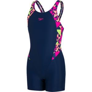 Speedo Fluotime Printed Legsuit Navy/Pink