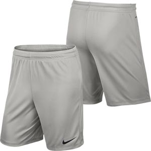 Nike Park II Knit Senior Football Shorts Pewter Grey