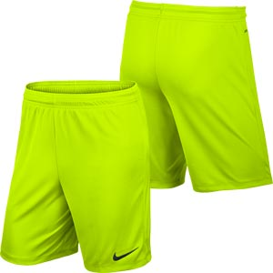 Nike Park II Knit Senior Football Shorts Volt Yellow