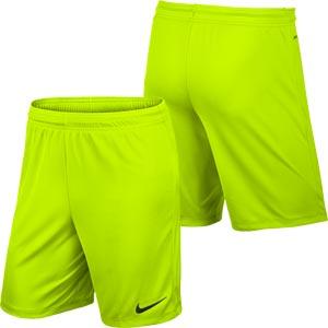 d0740ba72a Nike Park II Knit Senior Football Shorts Volt Yellow