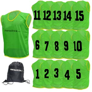 Numbered Training Bibs 1-15 Pack Green