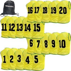 Newitts Numbered Training Bibs 1-20 Pack Yellow