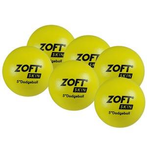 Zoft Dodgeball 5 Inch 6 Pack