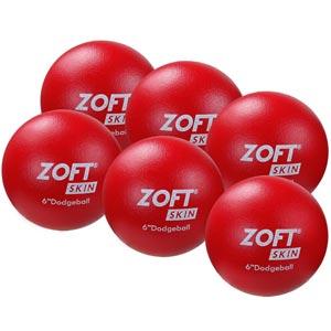 Zoft Dodgeball 6 Inch 6 Pack