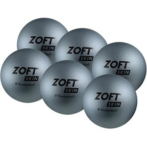 Zoft Dodgeball 8 Inch 6 Pack