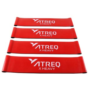 ATREQ X Heavy Mini Loop Band 20-23kg 4 Pack